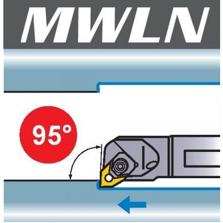 Nóż tokarski wytaczak MWLN