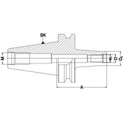 Trzpień frezarski BT-MCPY do frezów wkręcanych
