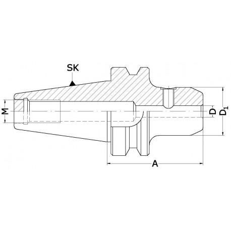 Oprawki zaciskowe MAS403-BT do narzędzi z chwytem Weldon'a