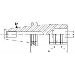 Oprawki szybkowymienne DIN 69871-A do gwintowania