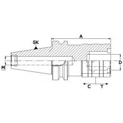 Oprawki szybkowymienne MAS 403-BT do gwintowania