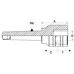 Oprawki szybkowymienne Morse'a do gwintowania