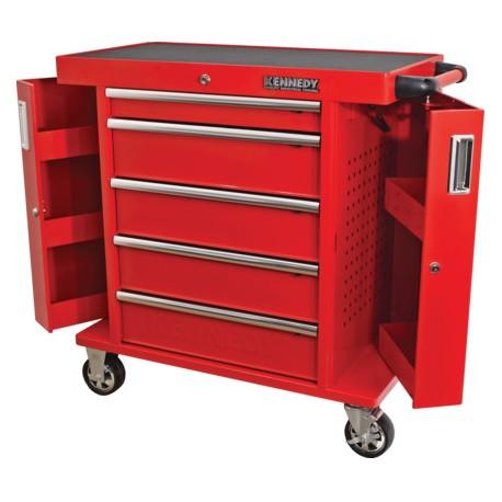 Wózek warsztatowy z 5 szufladami, obciążenie 450 kg.
