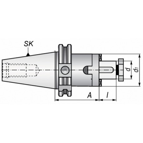 Trzpień frezarski DIN TYP 7301