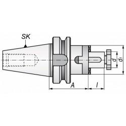 Trzpień frezarski MAS-BT TYP 7361