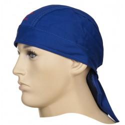 Fire Fox™ chusta Doo-Rag, niebieska trudnopana bawełna, WELDAS