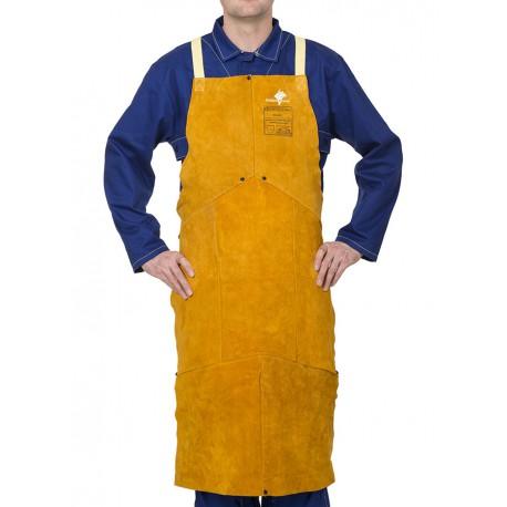 Golden Brown™ skórzany fartuch spawalniczy z dwoiny bydlęcej, WELDAS