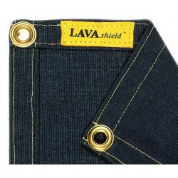 LAVAshield® czarny koc spawalniczy z włóknem szklanym 538ºC. 174 x 234 cm. WELDAS